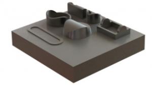 3D fémnyomtatás - munkaasztal a munkadarabok eltávolítását követően