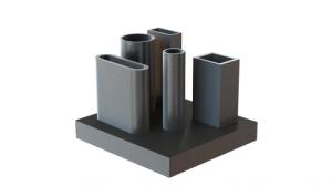 3D fémnyomtatás - vertikális darabok