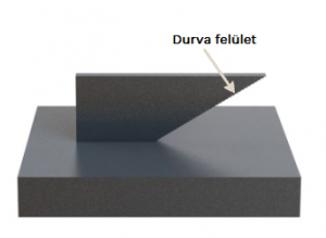 3D fémnyomtatás - durva felületi minőség a ferde felületen