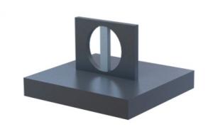 3D fémnyomtatás - nagy furat támaszanyaggal való ellátása
