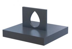 3D fémnyomtatás - nagy furatok felső felületének módosítása