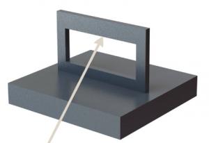 3D fémnyomtatás - alátámasztatlan felület