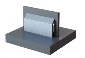 3D fémnyomtatás - alátámasztatlan felület offsetelt támasszal
