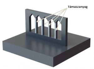 3D fémnyomtatás - támaszanyag kivágásnál
