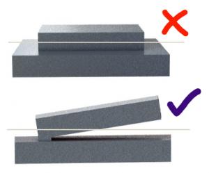3D fémnyomtatás - nagy felületű keresztmetszetek elkerülése