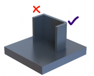 3D fémnyomtatás - lekerekítések alkalmazása